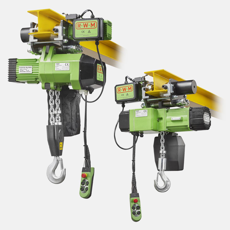 Paranco Serie WR CE Configurazione carrello elettrici