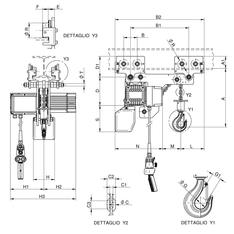 W1000 RS disegno