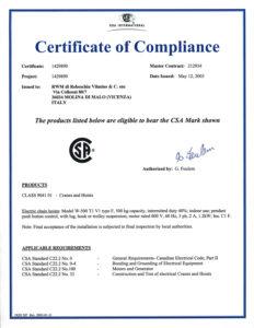 certificato RWM 2