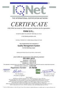 certificato RWM IQNet