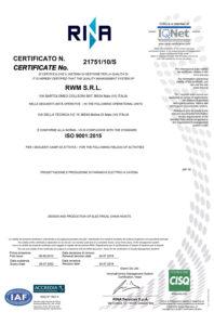 certificato RWM RINA
